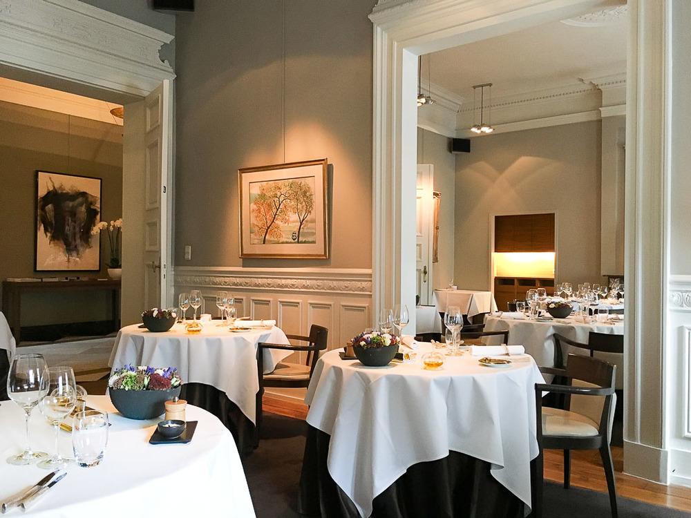 De Karmeliet's Main Dining Room