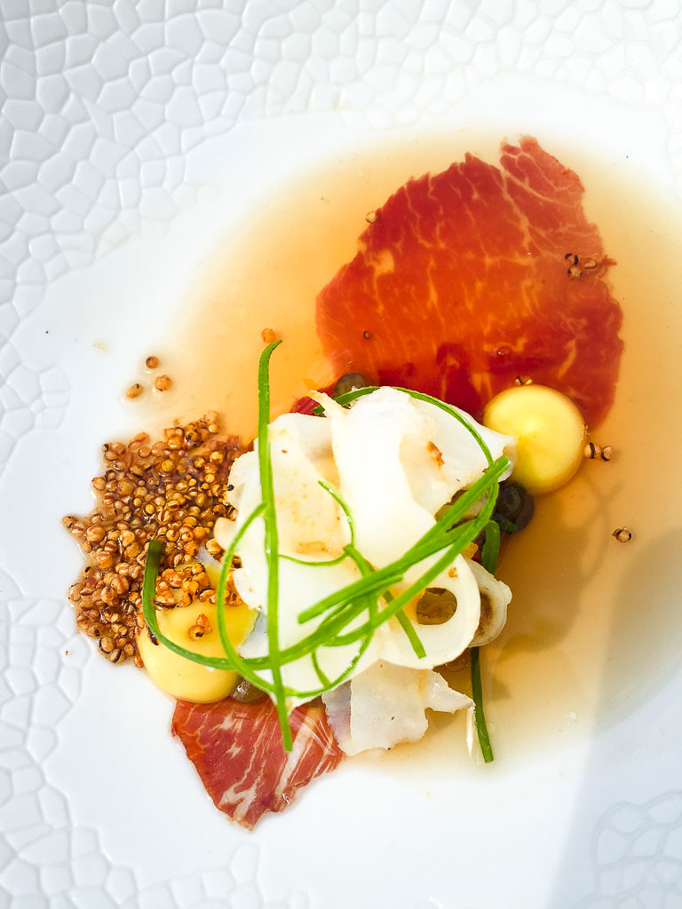 Course 3: Squid + Iberico Ham, 9/10