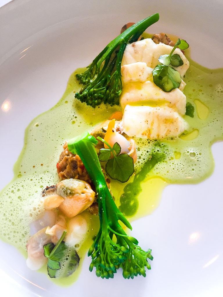 Course 6: Sea Bass + Broccoli, 8/10
