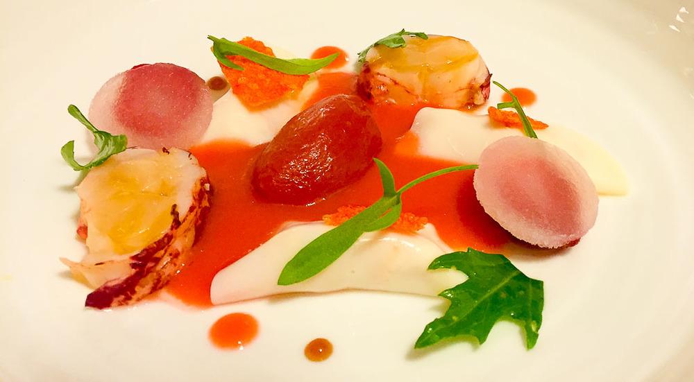 Course 2: Lobster Ravioli, 10/10.