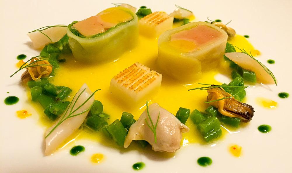 Course 4: Rouget + Foie Gras + Haricot, 6/10