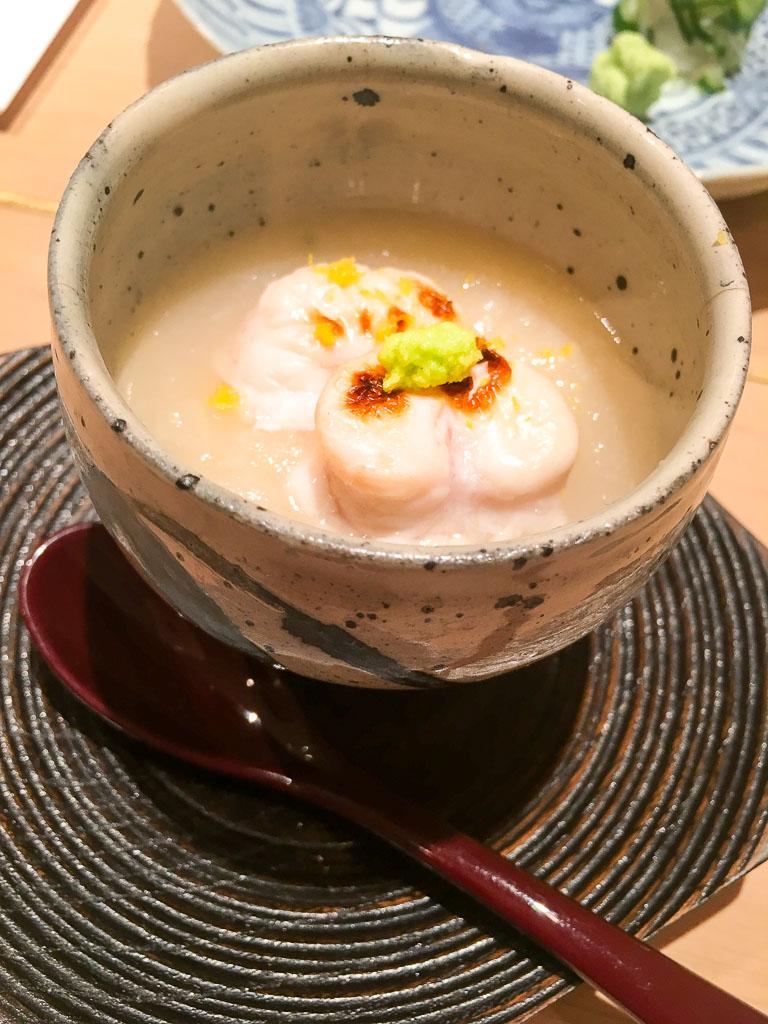 Course 1: Steamed Egg Custard + Pufferfish Roe, 9/10