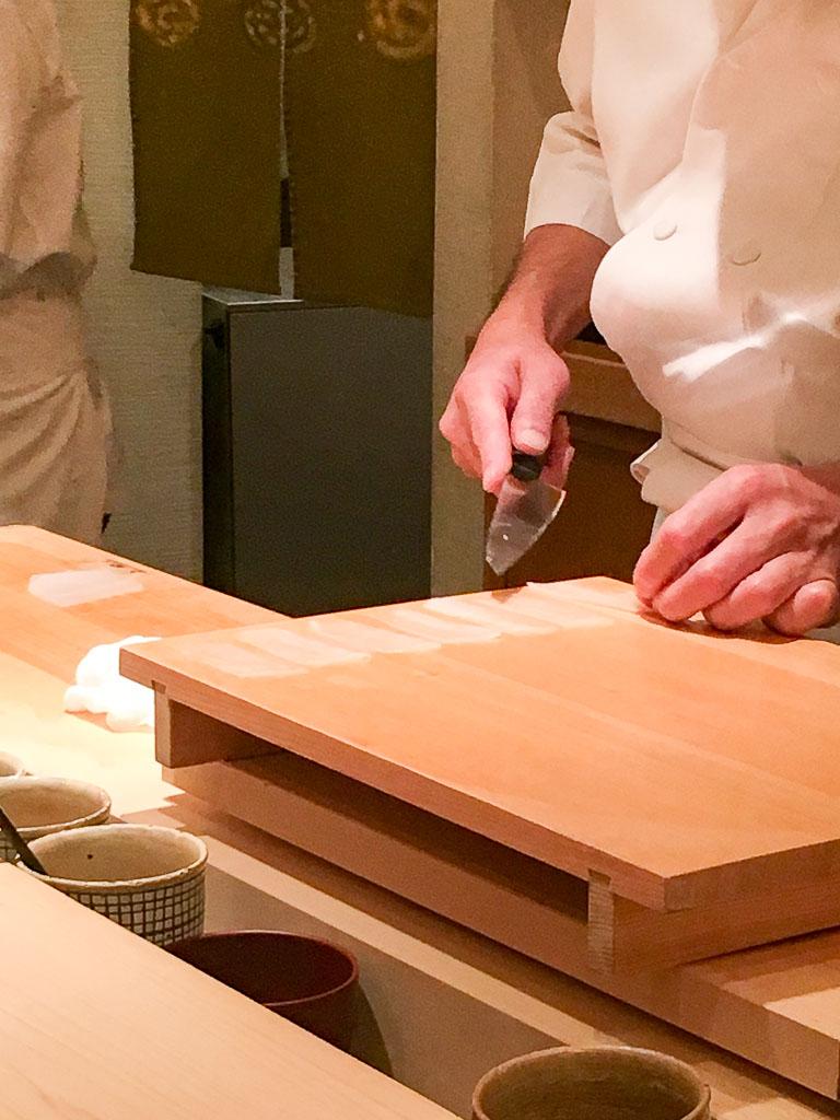 Preparing the Squid Sushi