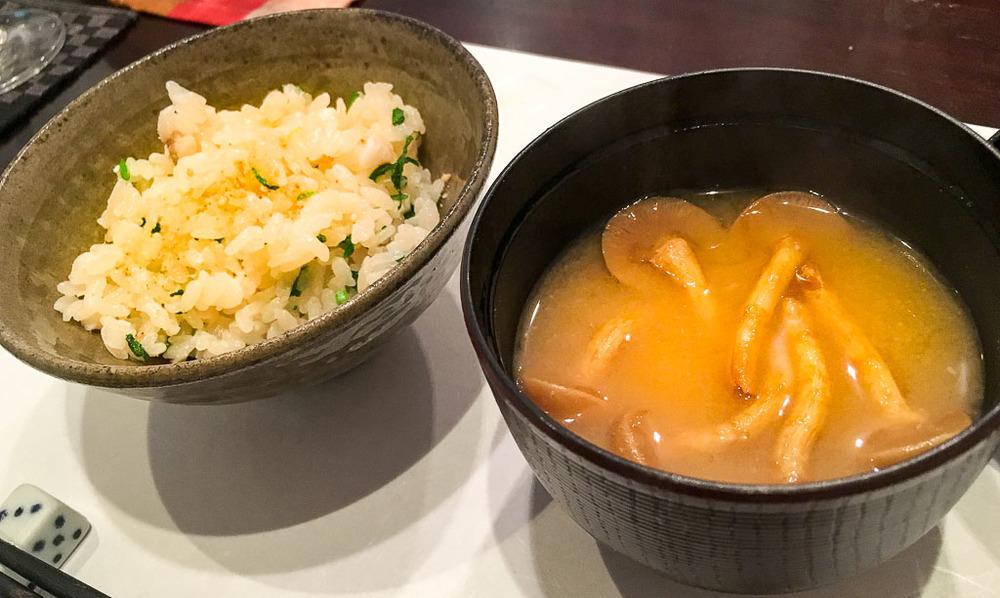 Course 5: Rice + Mushroom Soup, 8/10