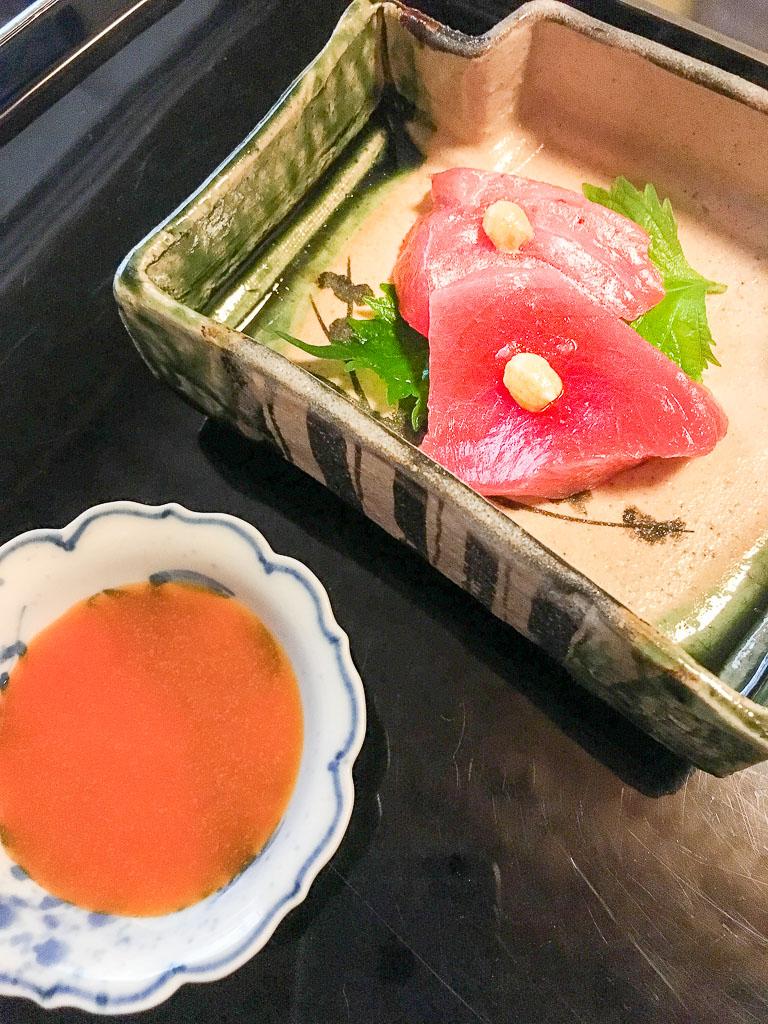 Course 3: Sashimi of Bluefin Tuna, 10/10