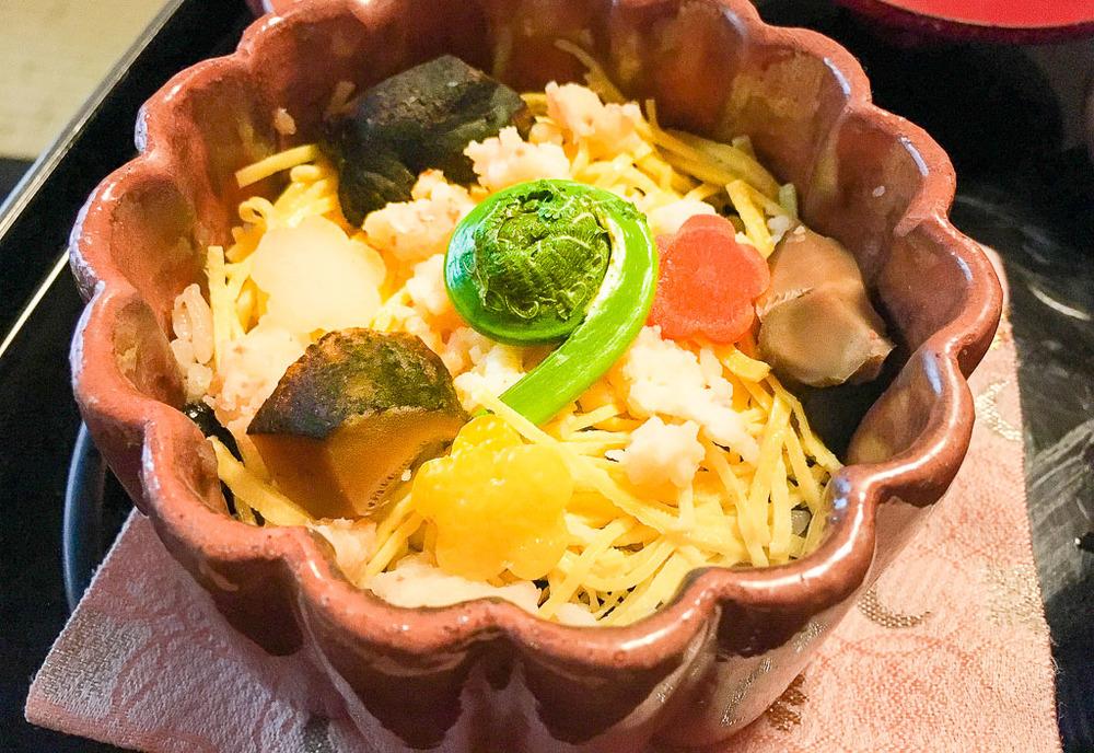 Course 9: Rice + Anago Eel + Vegetables, 8/10