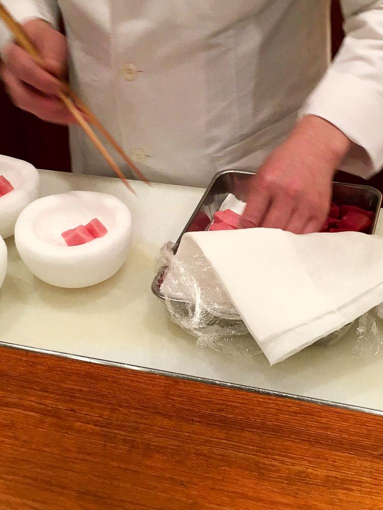 Hand-Assembling the Tuna