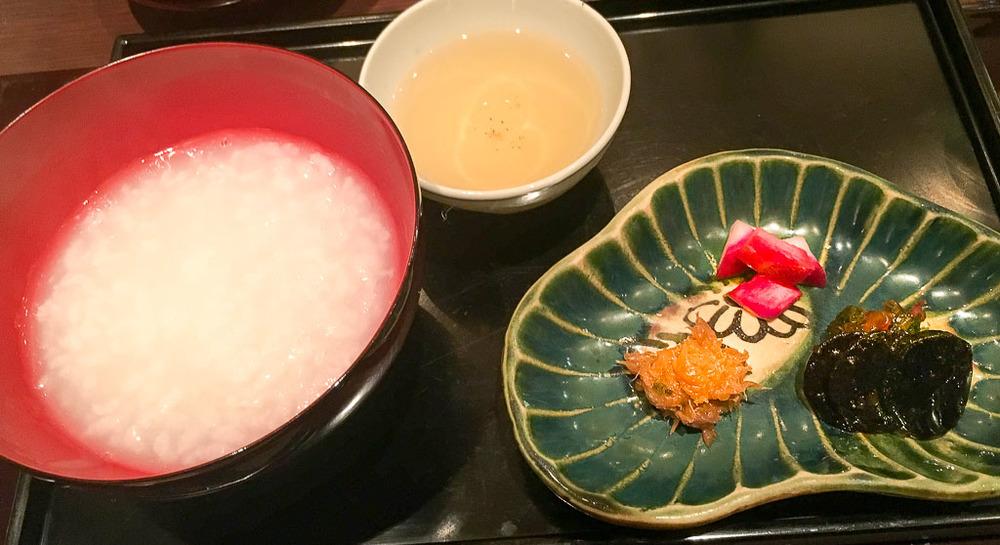 Course 8: Congee + Tea + Radish, 7/10