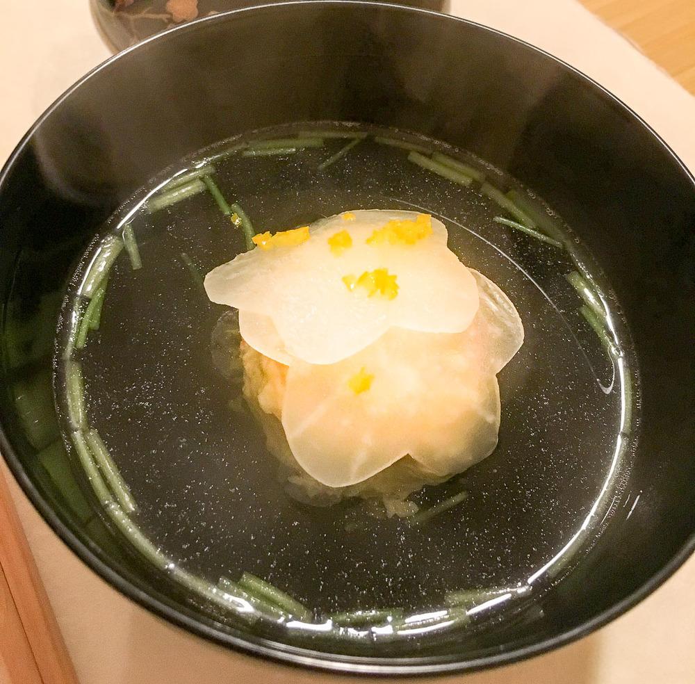 Course 4: Crab Meat Dumpling Soup, 8/10