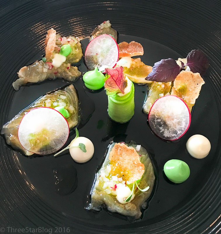 Course 4: Kingfish + Miso + Avocado, 7/10