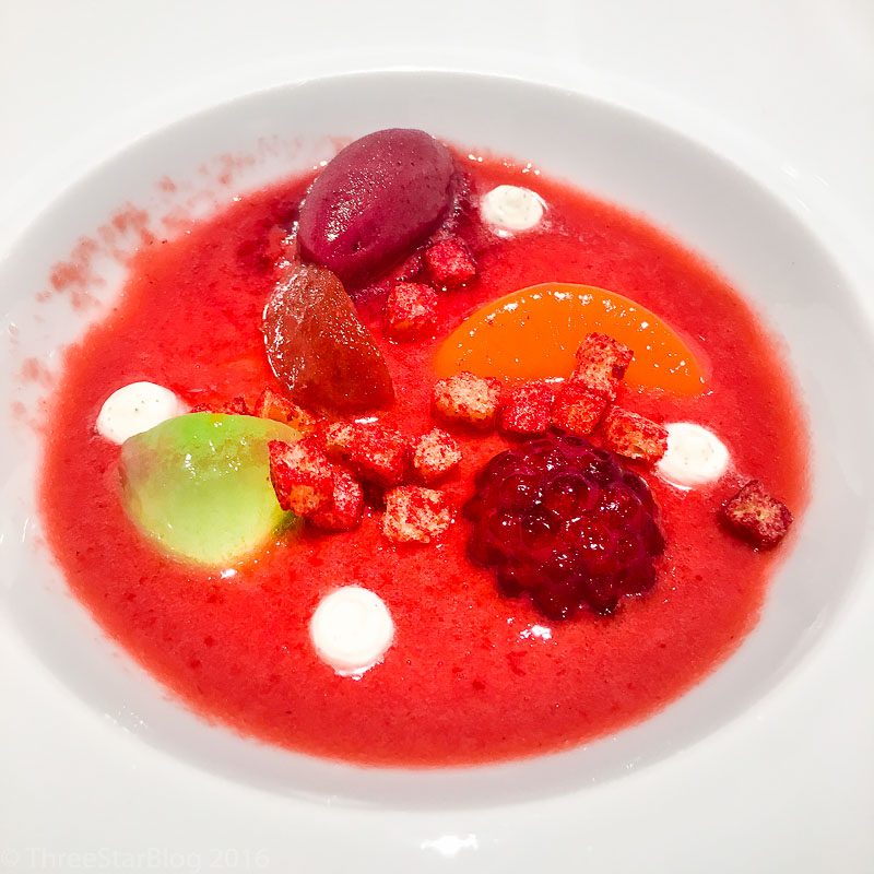 "Course 11: ""Gazpacho as Pre-Dessert,"" 8/10"
