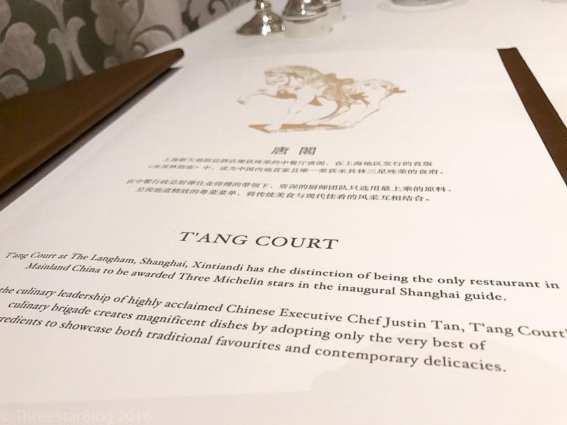 T'ang Court Menu