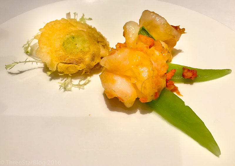 Course 3: Sautéed Prawn & Crab Roe, 7/10