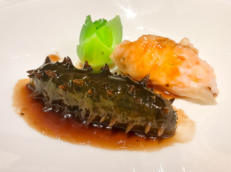 Course 4: Braised Sea Cucumber with Fish Maw, 7/10