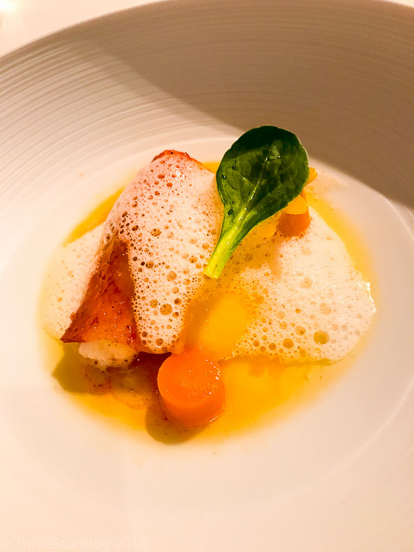 Course 2: Langoustine + Tandoori Spice Foam + Curry, 7/10