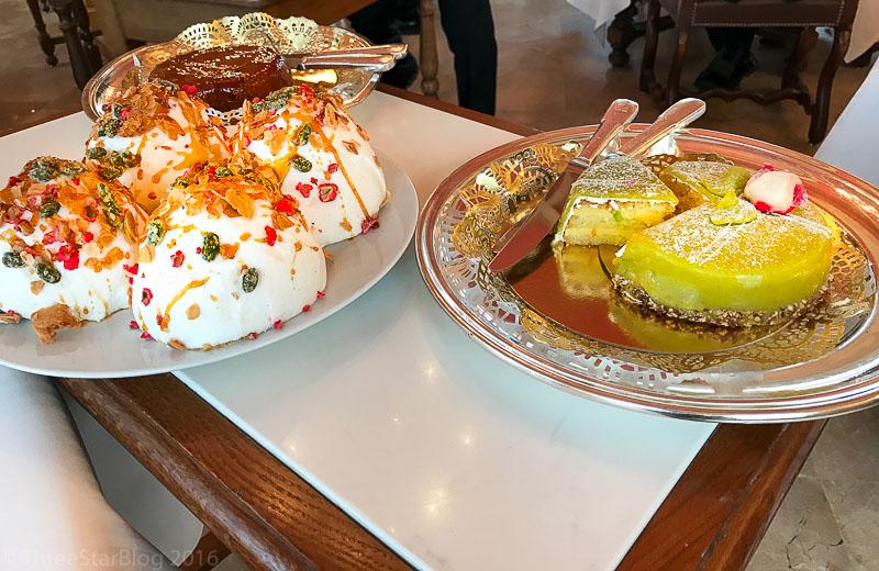 Cream Pastry & Pistachio Pie Cart
