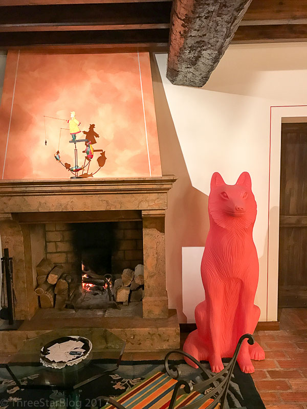 Lobby, Fireplace, and Fox