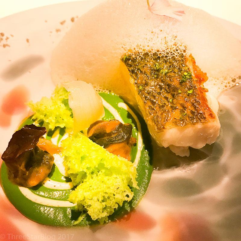 Course 4: Sea Bass + Mantis Shrimp Broth + Snails + Truffle Mayo, 10/10