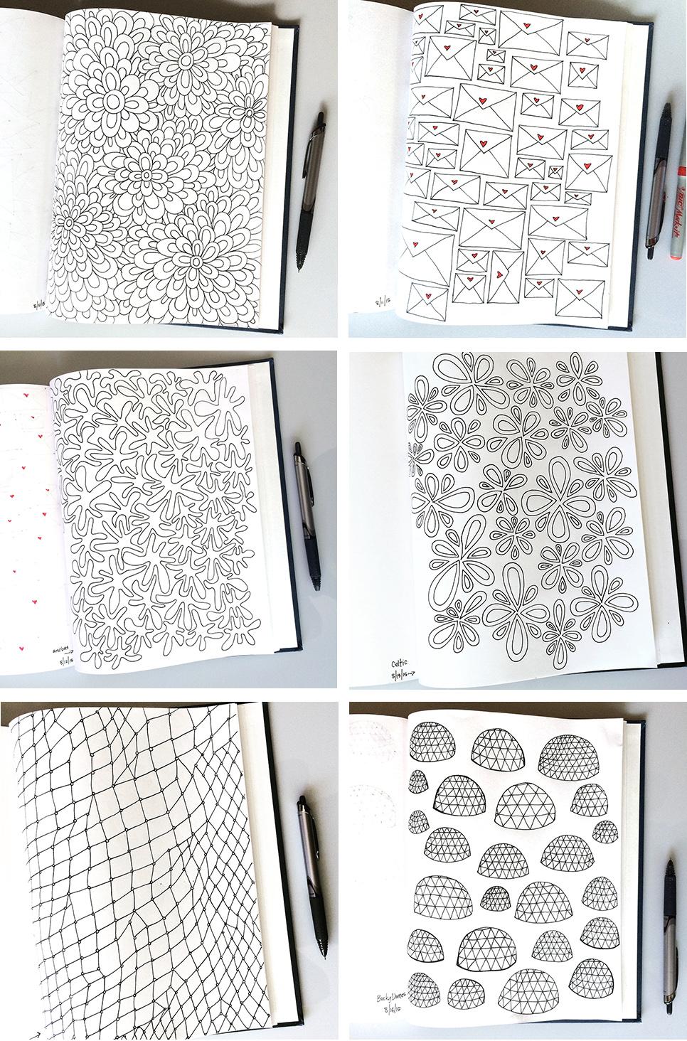 Sketchbook Pattern Drawings Day 19-24