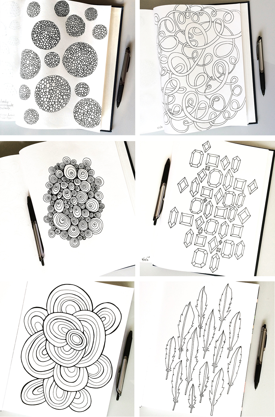 Sketchbook Pattern Drawings Day 25-30