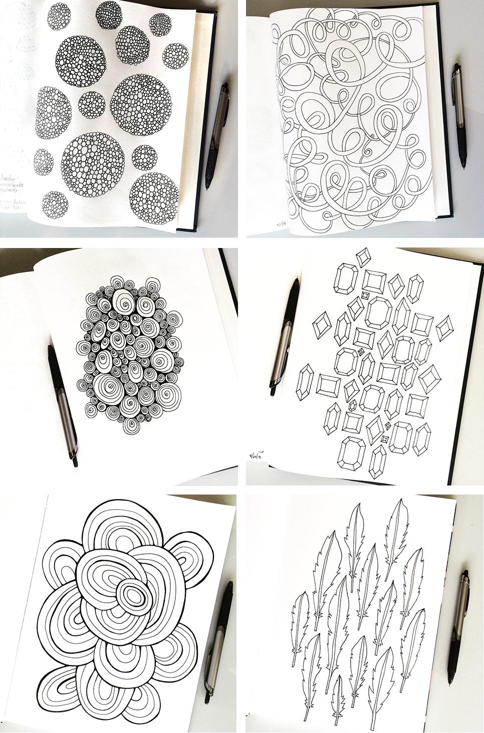 Sketchbook Pattern Drawings Day 25-30