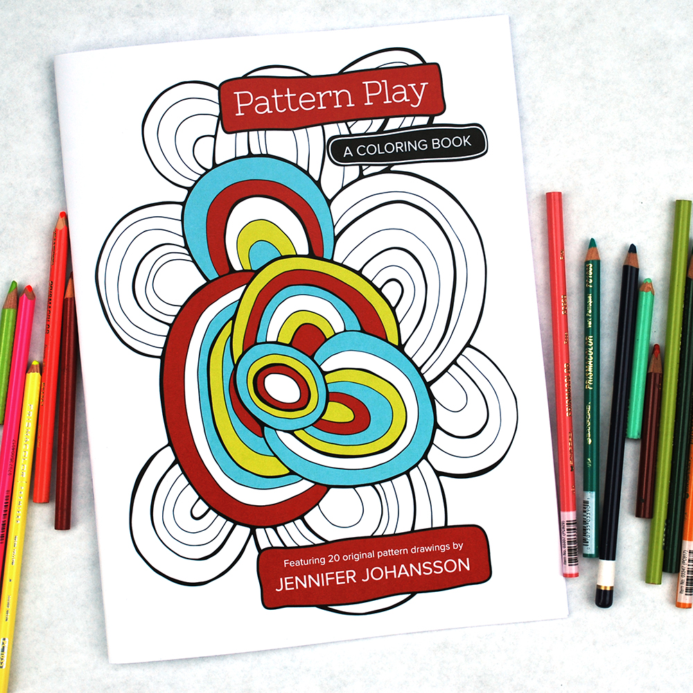 Pattern Play - A Coloring Book by Jennifer Johansson. Now available for purchase!
