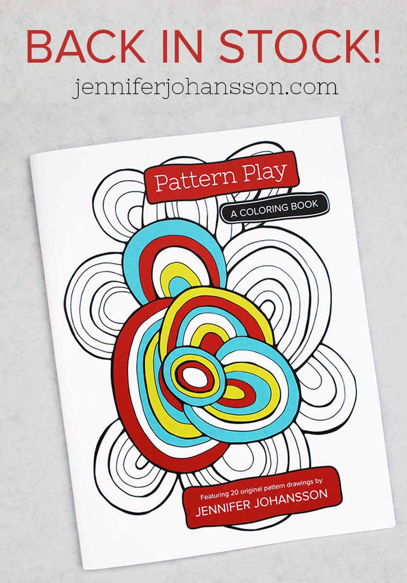 Pattern Play is back in stock! Click to purchase.