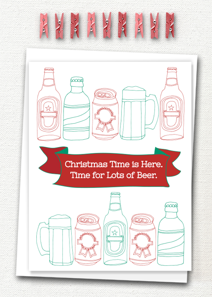 Irreverent Christmas card is now available in my shop. Click to purchase!