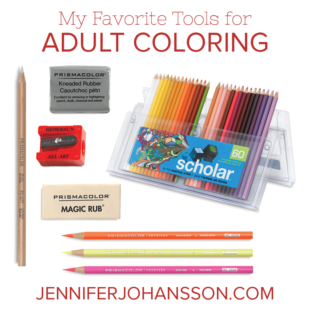 My Favorite Tools For Adult Coloring