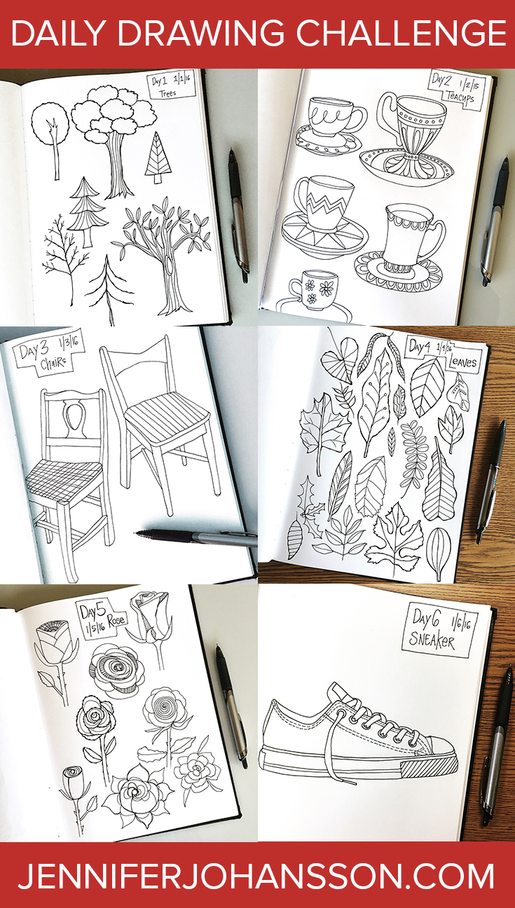 I'm taking part in the Creative Bug 31 Days of Drawing during January 2016. Click to see all of my daily drawings.