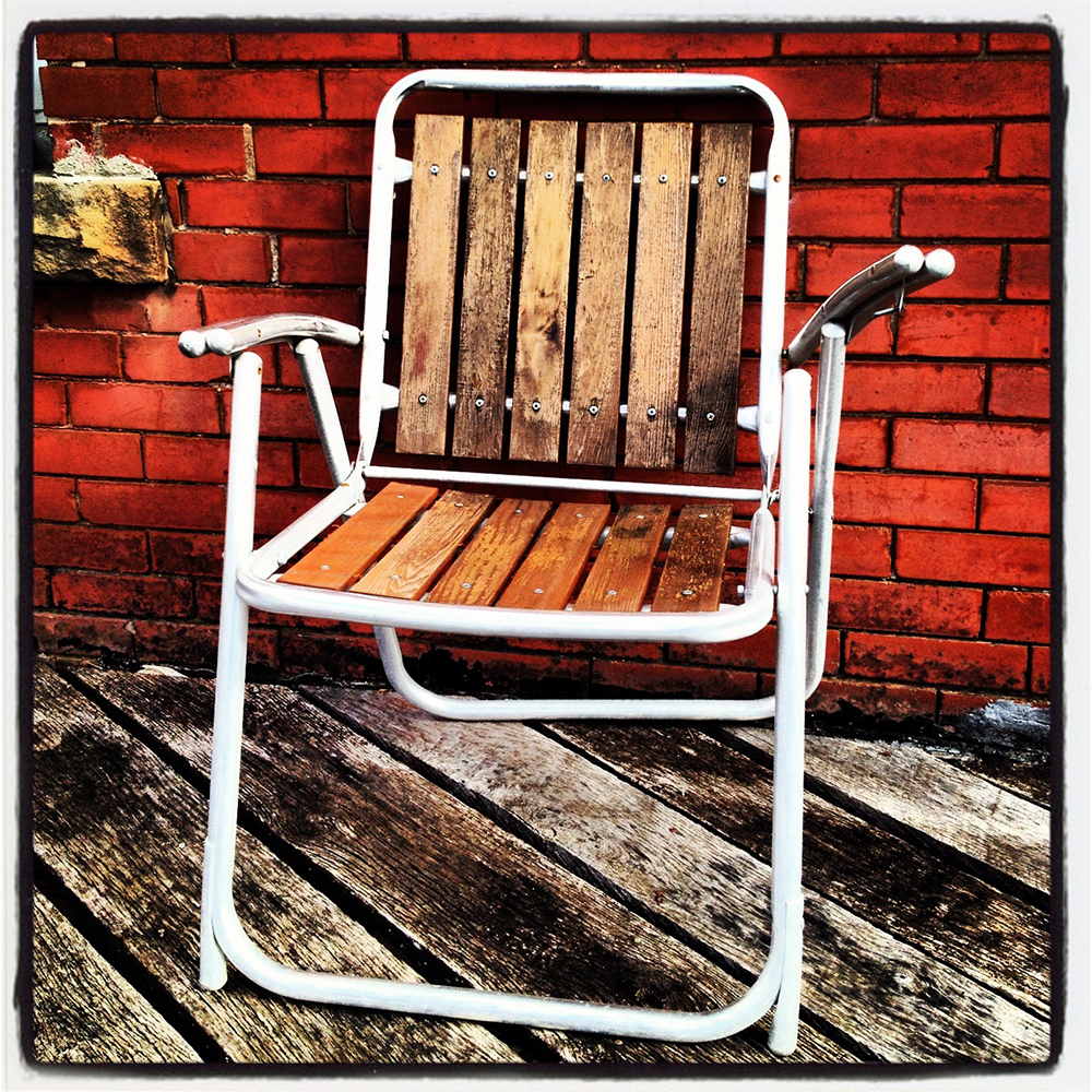 My filtered Instagram shot of lovely chair I spotted in Makanda.