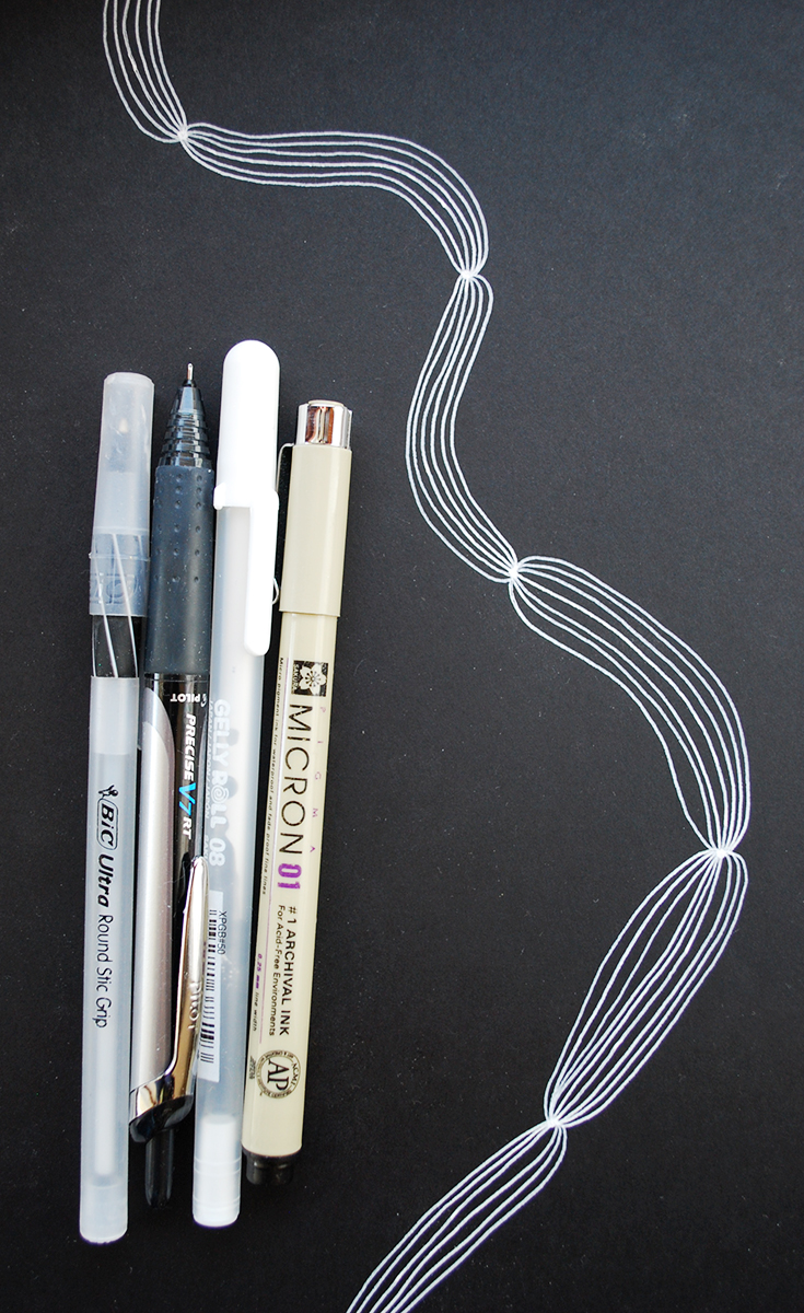 A collection of my favorite drawing implements.