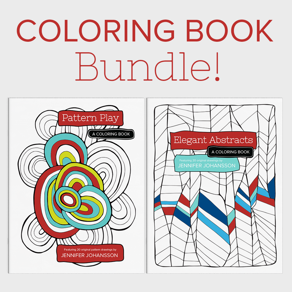 Buy both of my coloring books together at a discount! Click through to purchase.