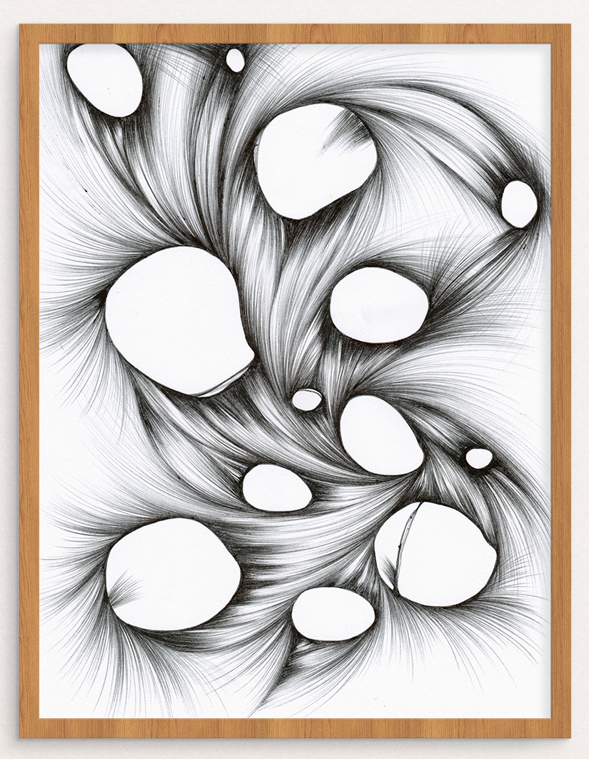 This new original drawing is shown here with a virtual frame. Click to purchase!