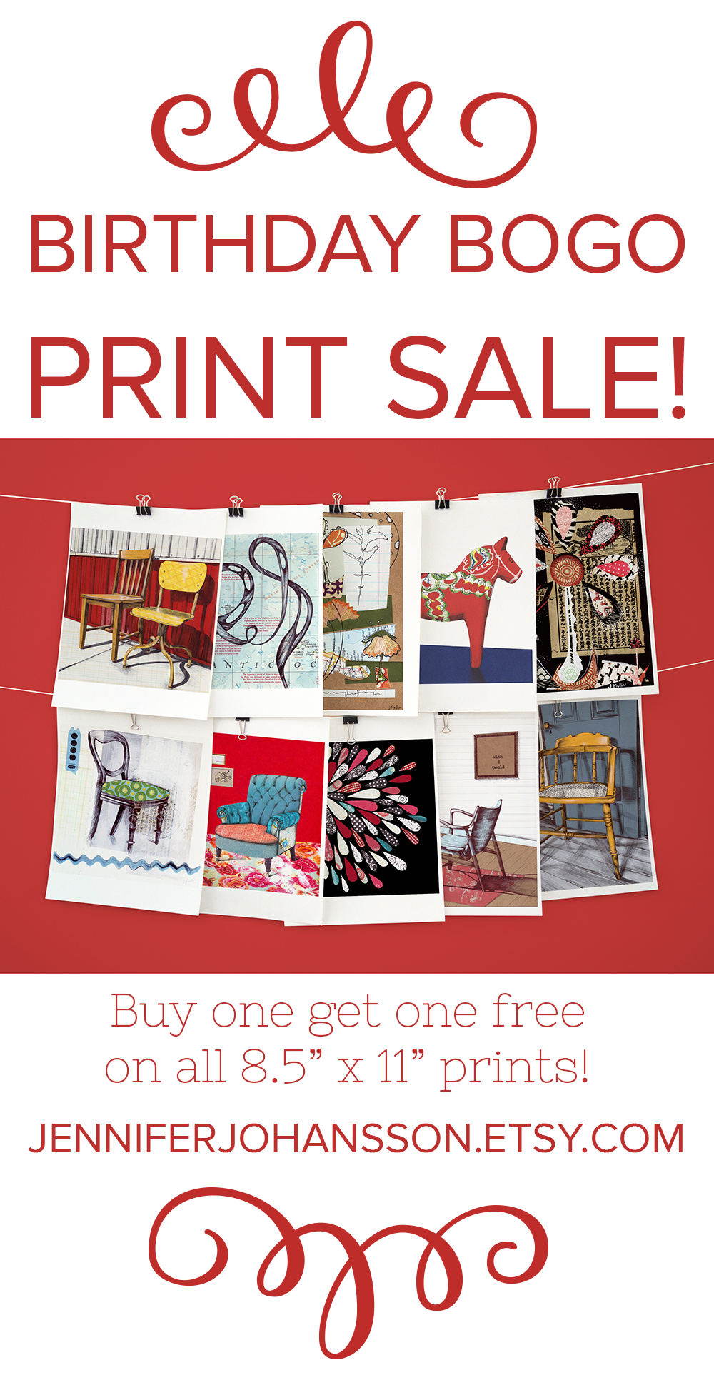 All prints are buy one get one free in my Etsy shoppe until 9/11/16. Click to shop!