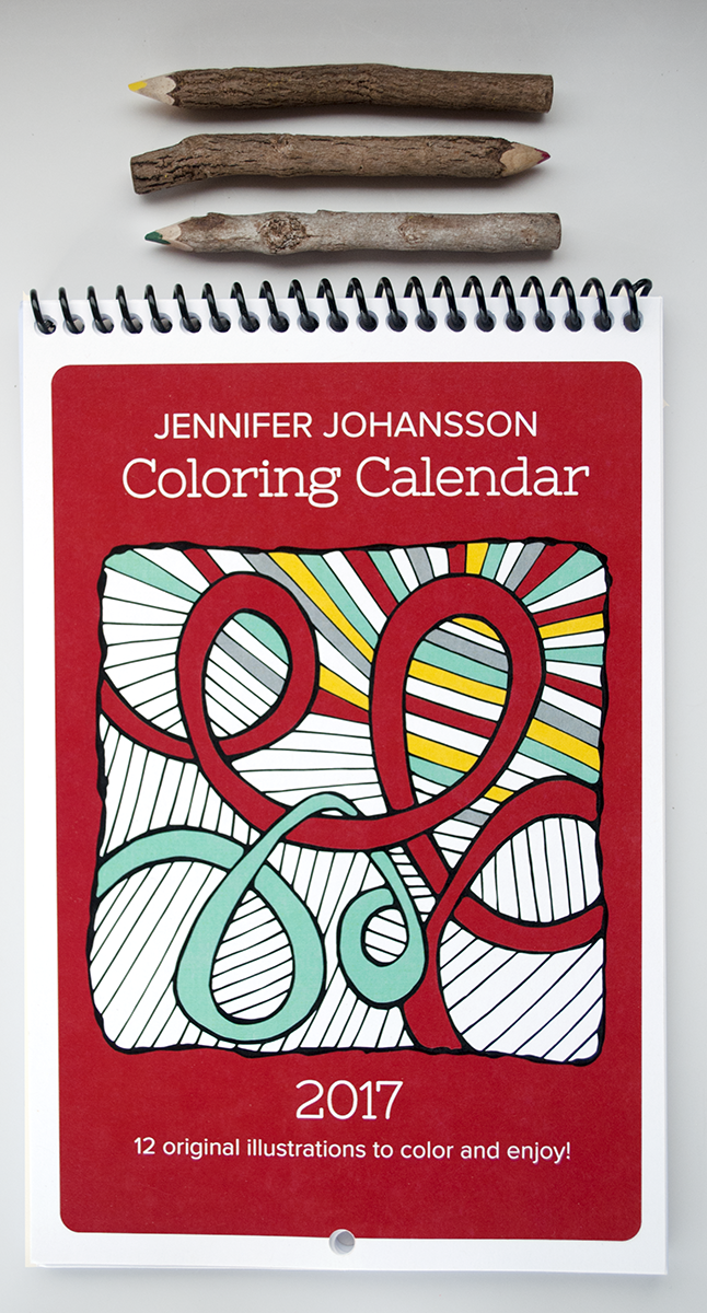 The 2017 Coloring Calendar is here. Click to purchase!