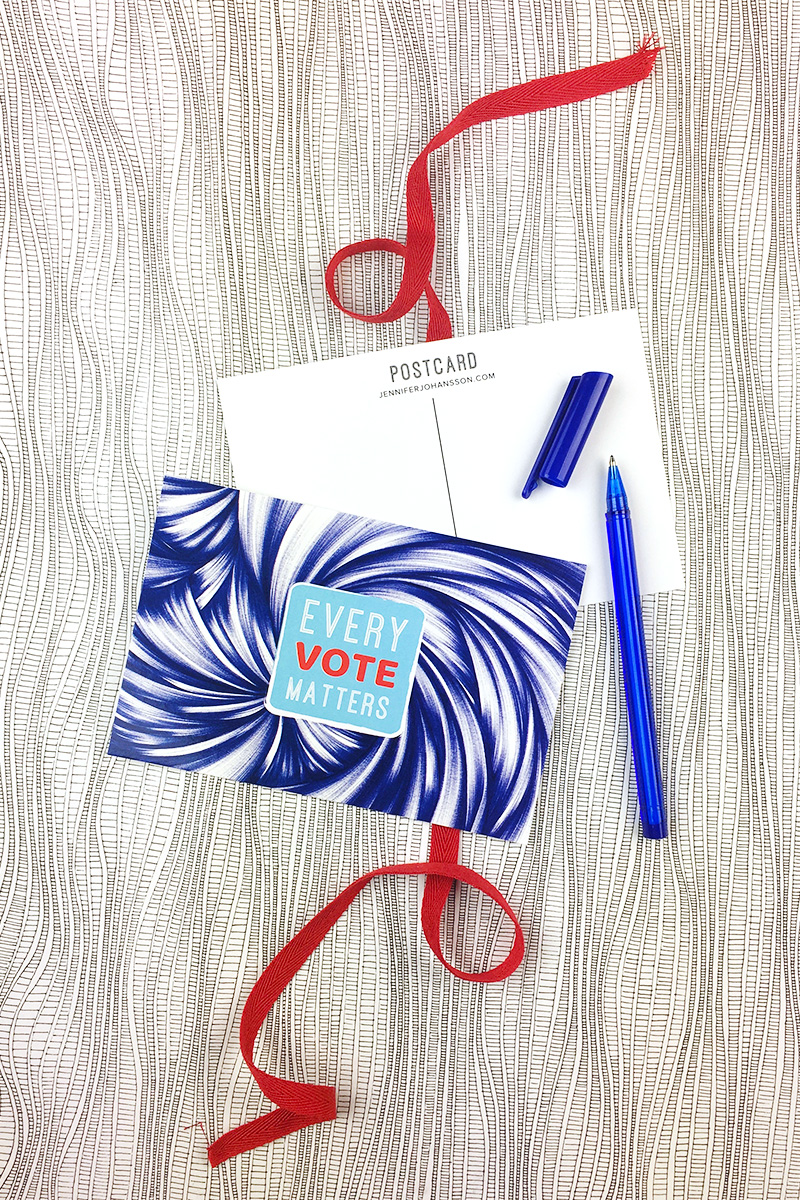 Every Vote Matters postcards feature my abstract ballpoint drawing. Click through to purchase.