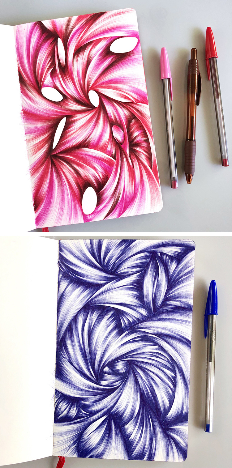 My most recent ballpoint sketches.