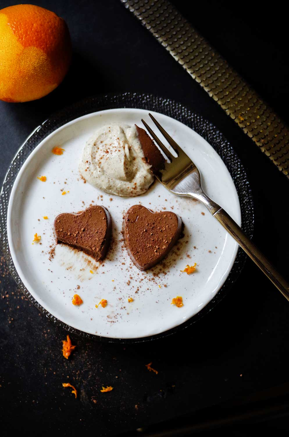 Chocolate Orange Semifreddo with Sweet Cashew Cream.