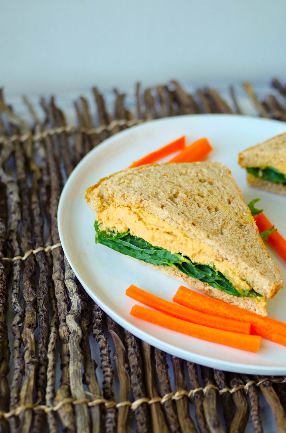 Lemony Hummus makes a great sandwich filling, by Beautiful Ingredient