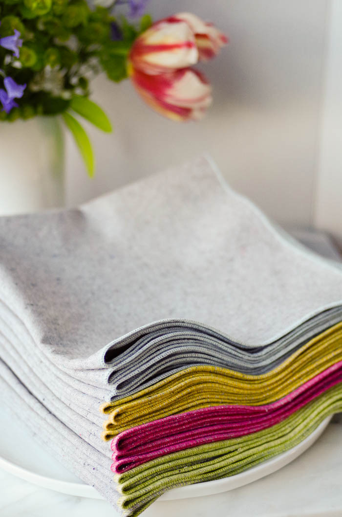 Napkins in a variety of colors available in the Beautiful Ingredient Handmade Shop.
