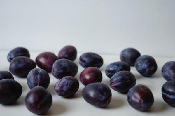 Italian prune plums from the farmers market.