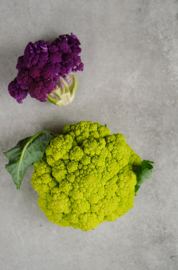 purple and chartreuse cauliflower