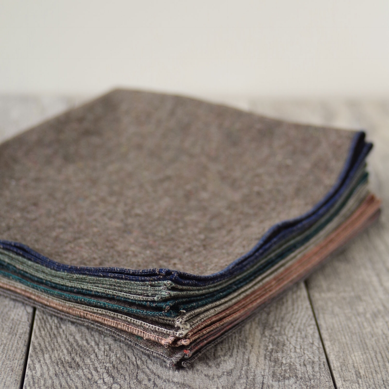 NEW Granite Gray Napkins Variety Pack, sets of 6, each a different color, Beautiful Ingredient Handmade