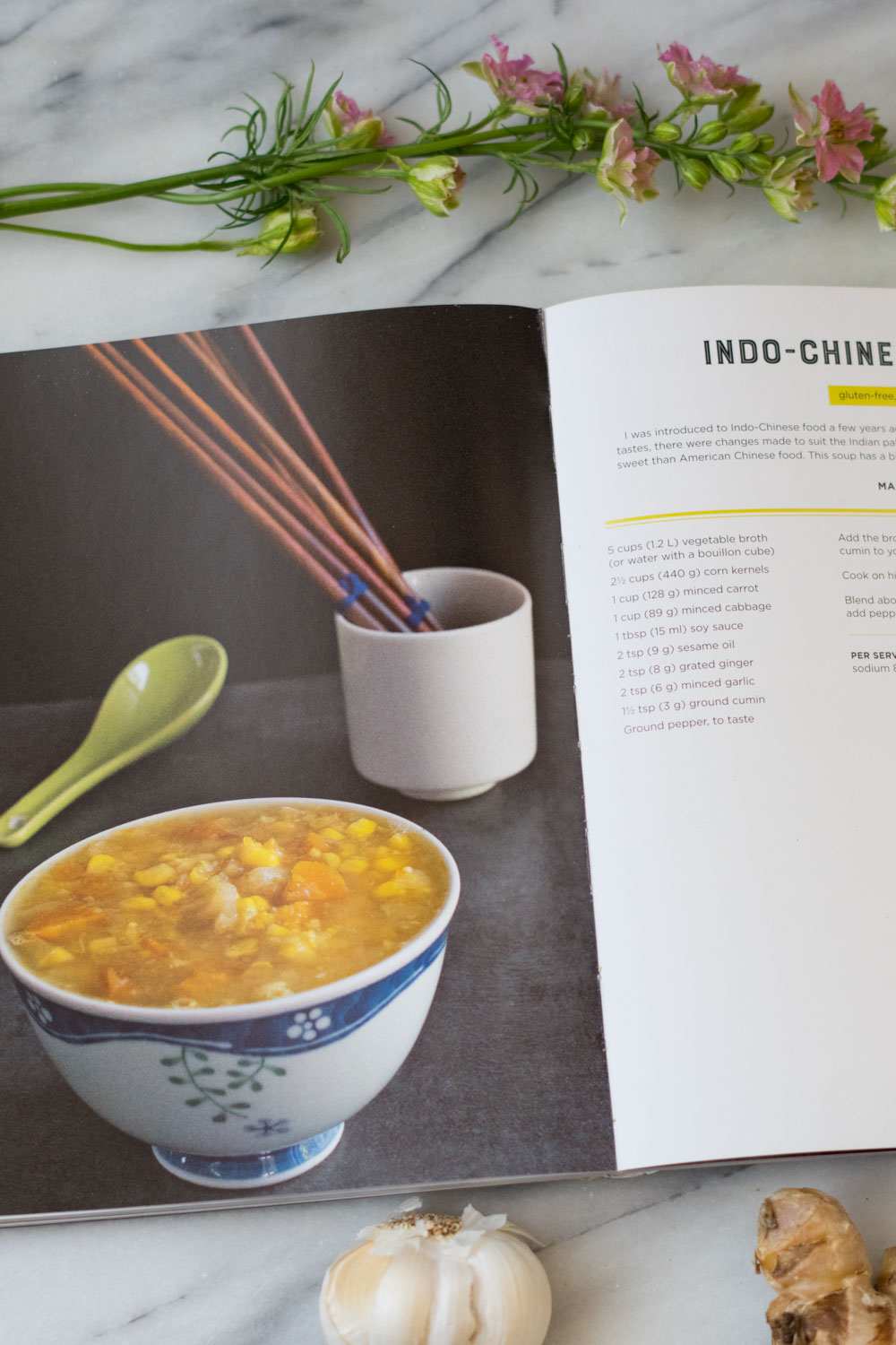 Indo-Chinese Corn Soup Recipe in The Ultimate Vegan cookbook for your Instant POt