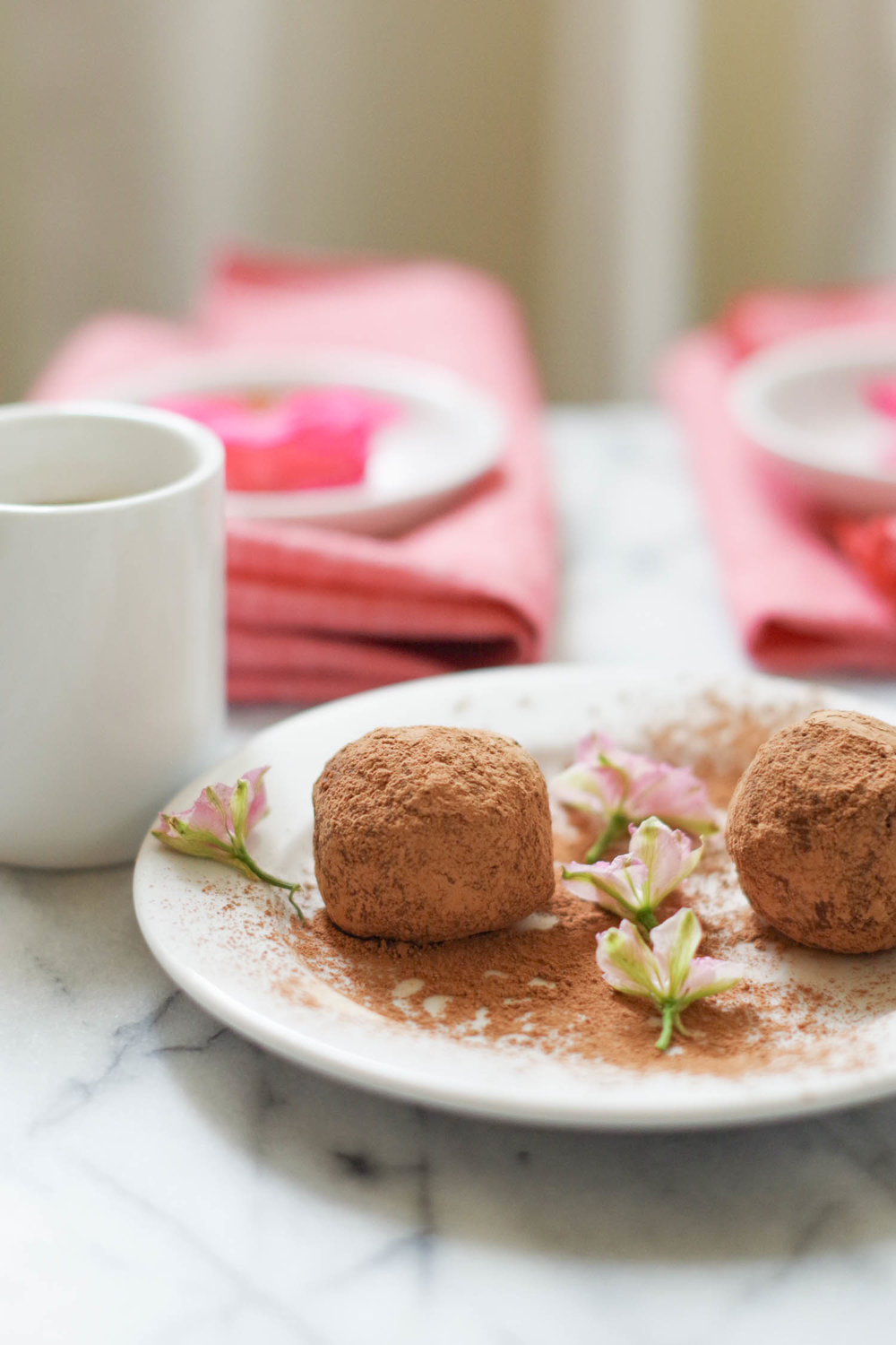 Romantic dessert:  vegan rum balls, by beautiful ingredient