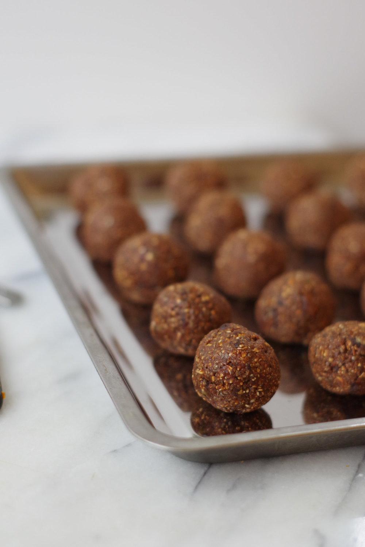Vegan Chocolate Orange Energy Bites ready to eat, by Beautiful Ingredient