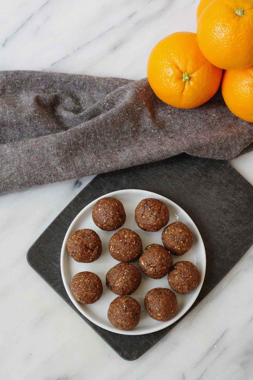 Vegan Chocolate Orange Energy Bites by Beautiful Ingredient