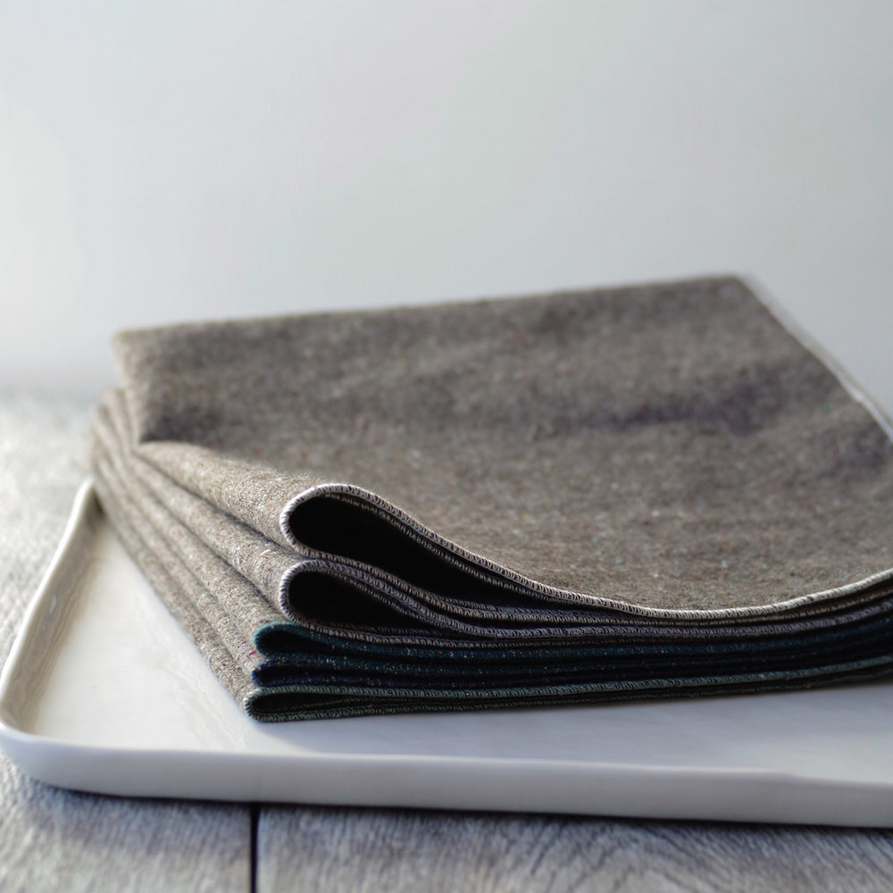 heathered granite napkins from the beautiful ingredient shop