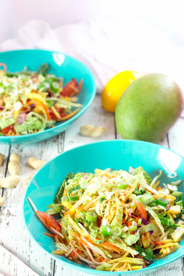 Vegan Som Tam Ma Muang (Thai Green Mango Salad) by Yumsome.